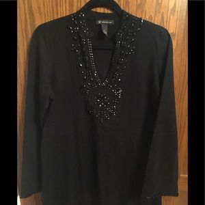 Inc. black with sequence sweater, size Large
